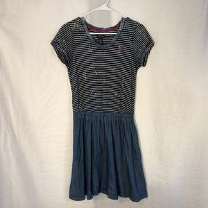 US Polo Assn Small Dress Striped Distressed 1359